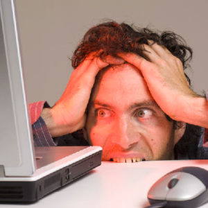 Man frustrated by slow broadband speeds