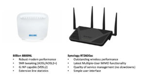 REcommend router and modem