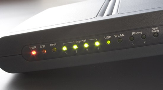 Photo of a broadband router