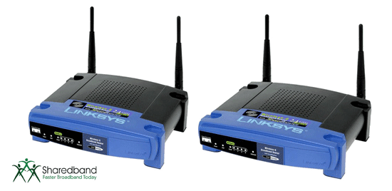 Sharedband Linksys routers
