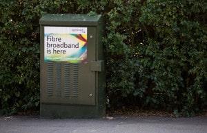 Street cabinet for fibre broadband