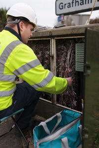 The very first fibre broadband connection as part of the Connecting Cambridgeshire project