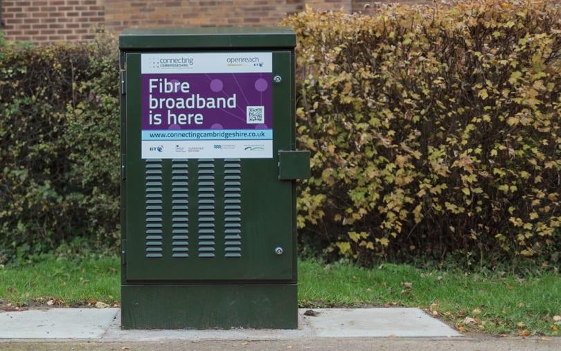 Unopened fibre broadband street cabinet