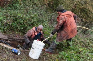Openreach engineers in the process of laying fibre-optic cables