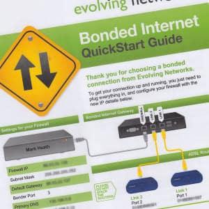 Set up guide for Evolving Networks bonded ADSL service