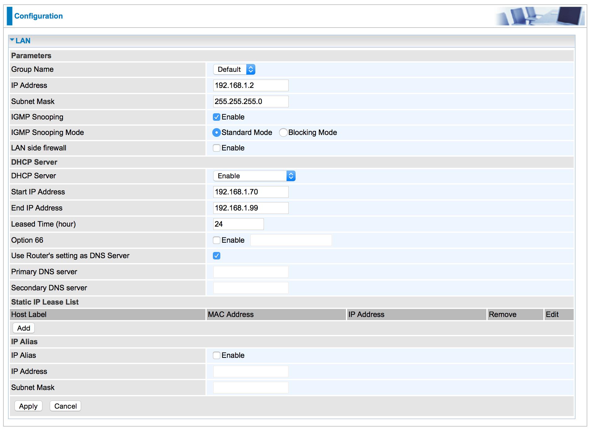 IGMP snooping mode