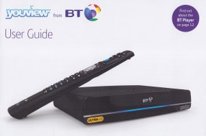 User guide for BT ultra hd tv service