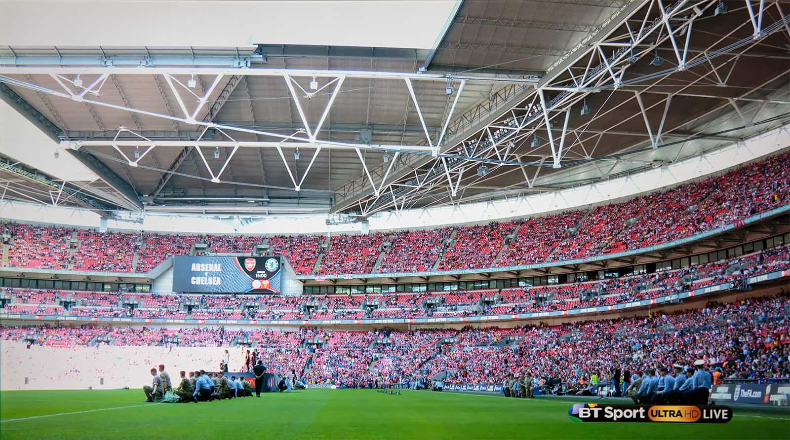 Crowd scene at Wembley