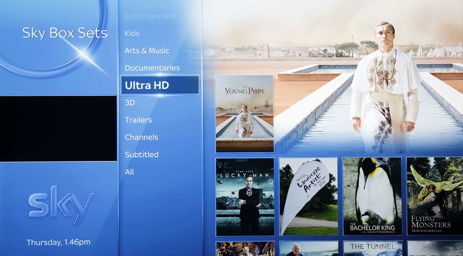 Sky box sets in UHD