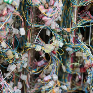 Lots of telephone cables