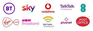 Broadband logos