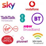 Logos of broadband providers