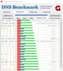 Screenshot for DNS Benchmark