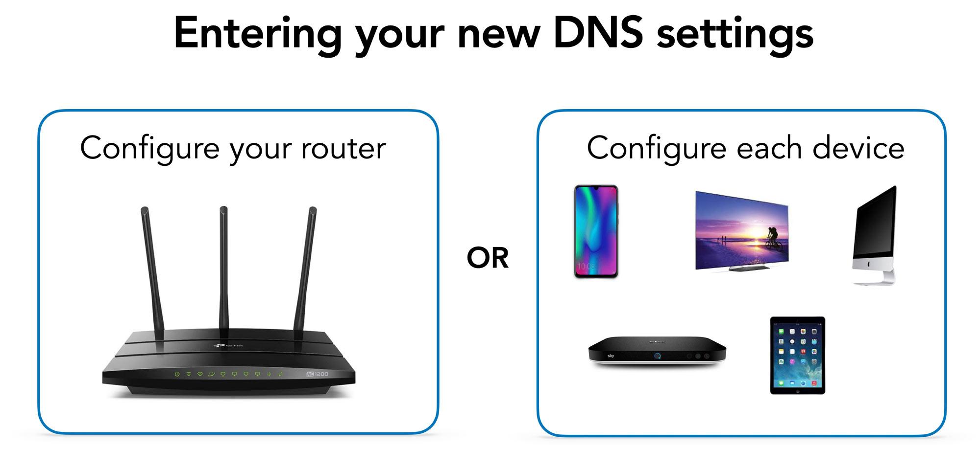 entering DNS settings