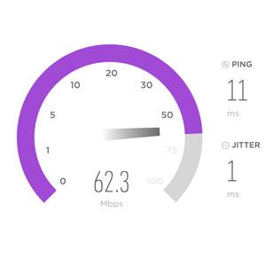 Online speed test image