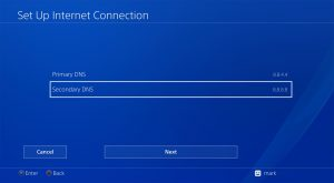 PS4 screenshot showing DNS settings