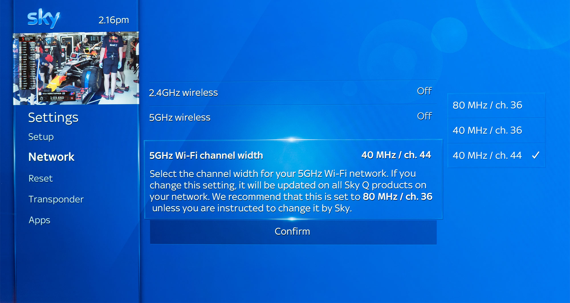 How to turn off Sky Q WiFi