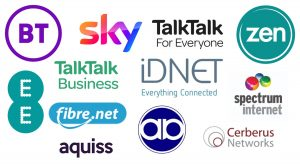 FTTP providers offered through Openreach FTTP networks