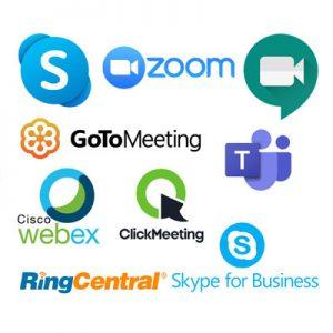 Video conferencing logos