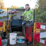 Openreach engineer installing FTTP