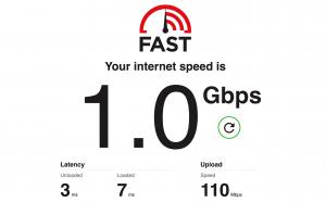 FTTP speed test
